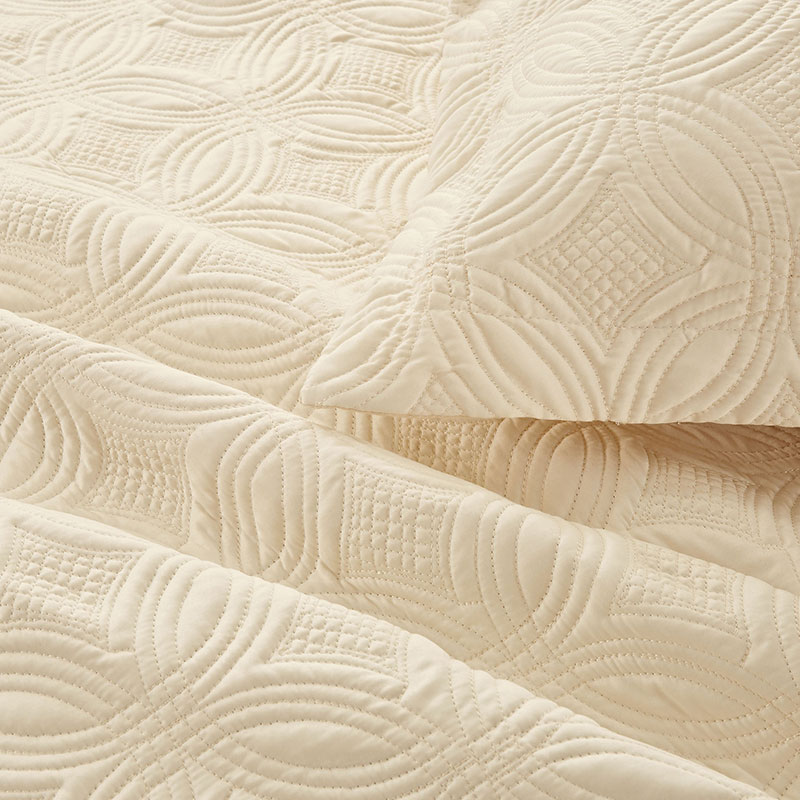 satin rice stitching quilt set