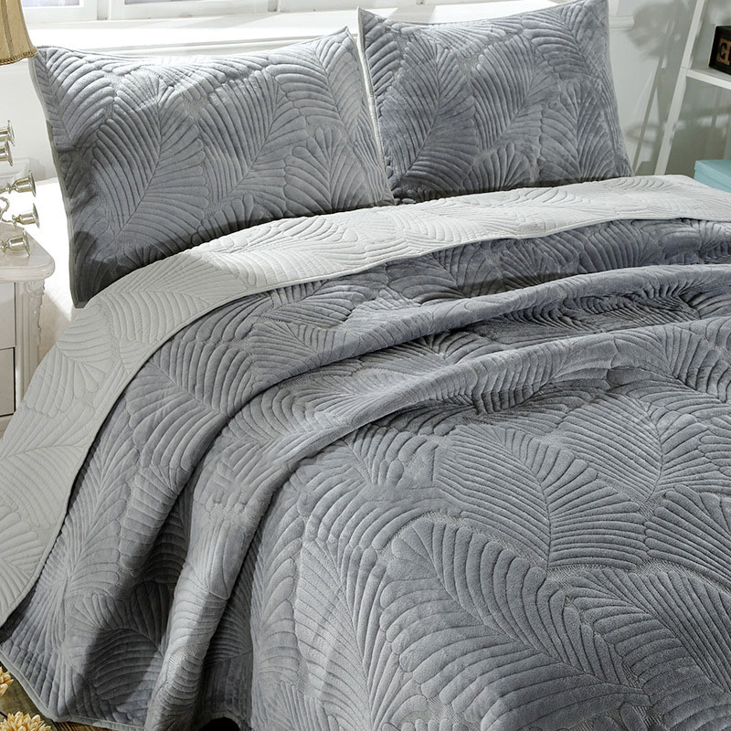 velvet embroidery quilts bedspread