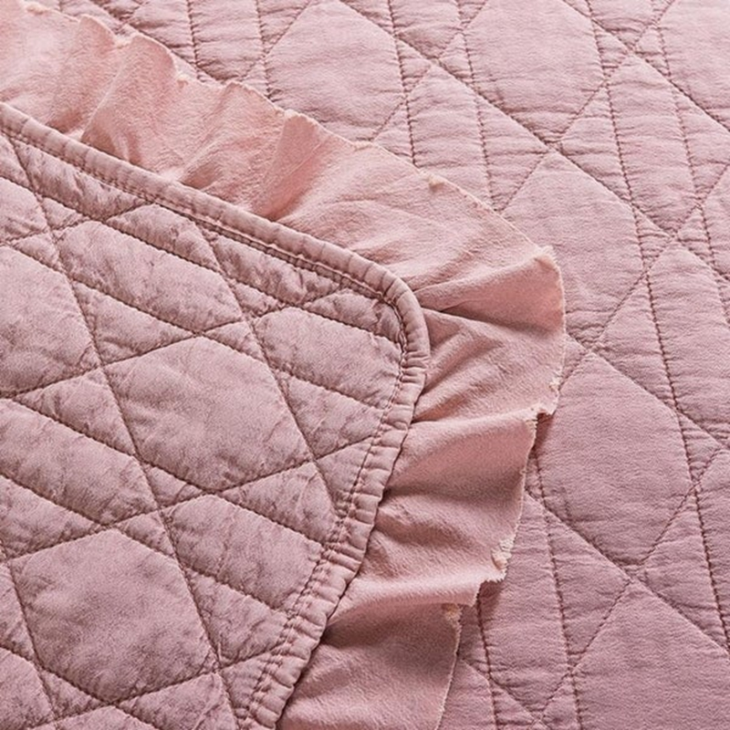 wrinkle stone washed quilt