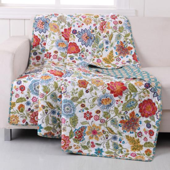 prewashed microfiber print throw and blanket